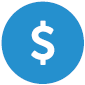 Dollar sign image for fee levelization.