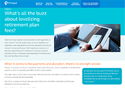 What's all the buzz about levelizing retirement plan fees? Thumbnail image of fee levelization white paper